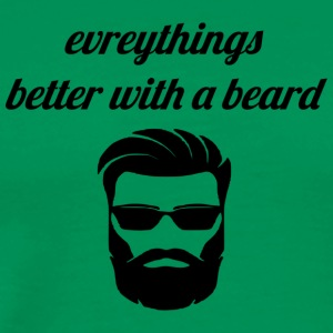 better with a beard - Men's Premium T-Shirt