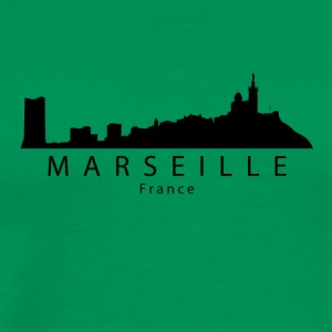 Marseille France Skyline - Men's Premium T-Shirt