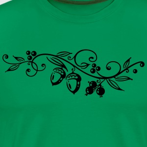 Acorns, oak leaves, autumn, hiking. - Men's Premium T-Shirt