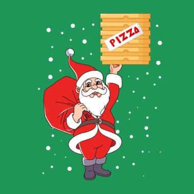 Santa Claus Pizza Delivery Service Christmas XMAS - Men's Premium T-Shirt