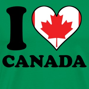 I Love Canada Canadian Flag Heart