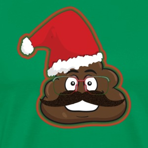 Christmas Poop Emoticon Santa Hat Disguise