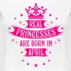 04 Real Princesses are born in April Princess - Women's Premium T-Shirt