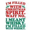 Im Filled With Christmas Spirit Wait Mean Whisky - Women's Premium T-Shirt