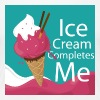 Ice-cream Completes me - Women's Premium T-Shirt