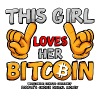 This Girl Loves Bitcoin - Women's Premium T-Shirt