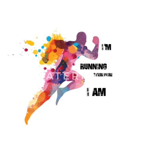 Birthday Present For Runners I Run Therefore Am By Ikmit