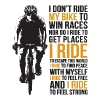 i don t ride my bike to win races nor do i ride to - Women's Premium T-Shirt