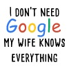 I dont need google my wife knows everything - Women's Premium T-Shirt