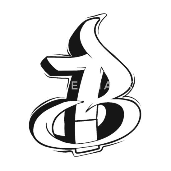 B Graffiti letters initial alphabet gift Women's Premium T