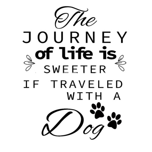 the journey of life is sweeter with a dog women s premium t shirt Sweeter than Sweets do you want to edit the design