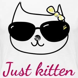 Cat lovers t-shirt - Just kitten - Women's Premium T-Shirt