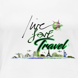 Live Love Travel-Green 1 - Women's Premium T-Shirt