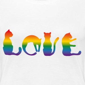 cat love rainbow
