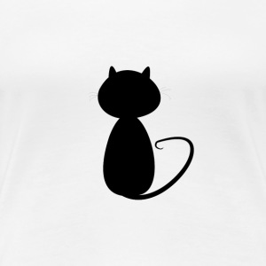 Small cat shadow - Women's Premium T-Shirt