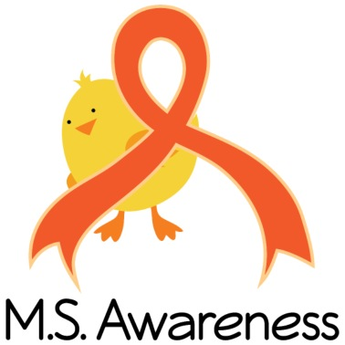 Multiple Sclerosis Ms Awareness Ribbon Chick By Homewiseshopper