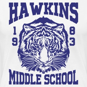 Hawkins Middle School 1983 Tiger - Women's Premium T-Shirt