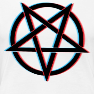 3D Pentagram - Women's Premium T-Shirt