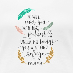 PSALM 91:4 - Women's Premium T-Shirt