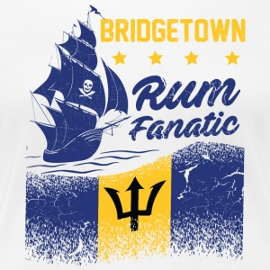 Rum Fanatic T-shirt - Bridgetown, Barbados - Women's Premium T-Shirt
