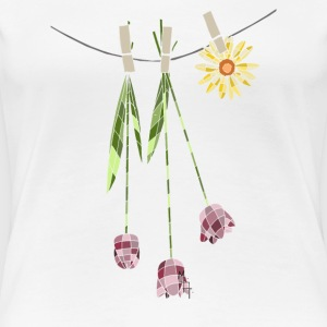 Stained Glass Flower Clothesline - Women's Premium T-Shirt