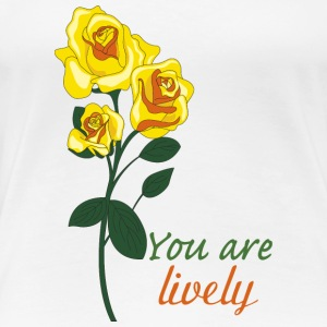 yellow rose - Women's Premium T-Shirt