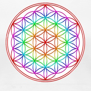 Flower of Life Rainbow - Women's Premium T-Shirt
