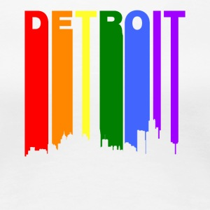 Detroit Michigan Rainbow LGBT Gay Pride - Women's Premium T-Shirt