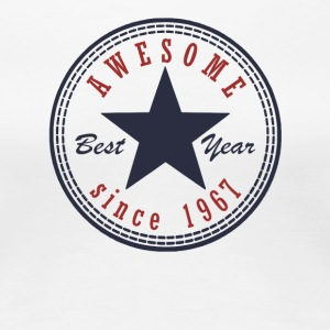 50th Birthday Awesome since T Shirt Made in 1967 - Women's Premium T-Shirt