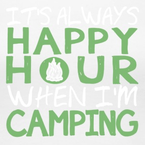 Camping Happy Hour Shirt - Women's Premium T-Shirt