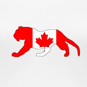 Canada Flag - Tiger - Women's Premium T-Shirt