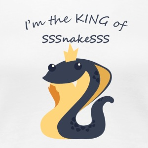 King of snakes - Cute snake with Crown - Women's Premium T-Shirt