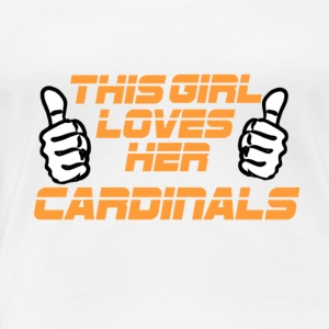 NFL This Girl Loves The cardinals love - Women's Premium T-Shirt