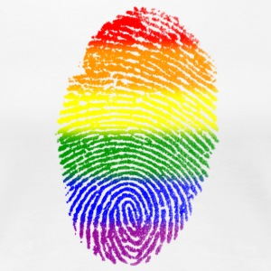 LGBT Pride Fingerprint - Women's Premium T-Shirt