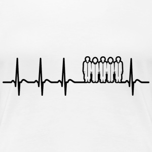Heartbeat Choir Singer Opera Music School Fun Gift - Women's Premium T-Shirt