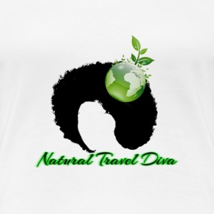 Natural Travel Diva-Green - Women's Premium T-Shirt