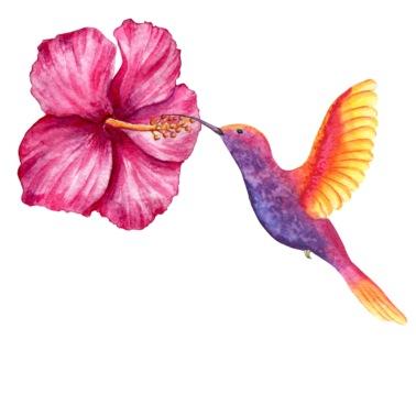 Colourful Hibiskus Flower Bandana Spreadshirt