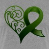 Green Ribbon Heart - Women's Premium T-Shirt