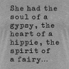Soul Of A Gypsy - Black - Women's Premium T-Shirt