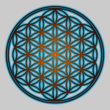 Flower of life, sacred geometry, spirituality,  - Women's Premium T-Shirt