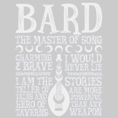 BARD THE MASTER OF SONG Dungeons Dragons Whi - Women's Premium T-Shirt