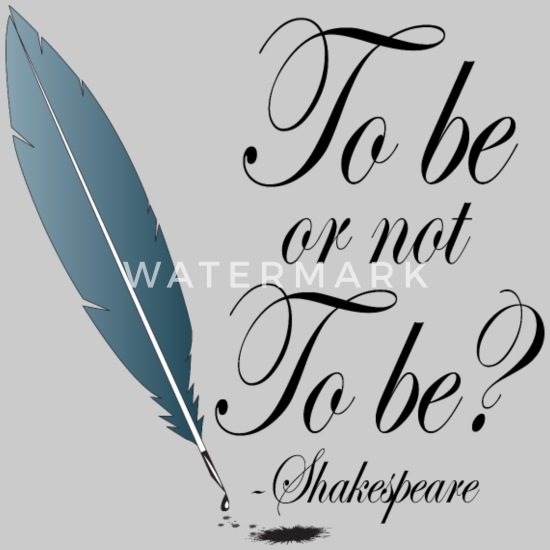 Shakespeare To Be Or Not To Be Womens Premium T Shirt Heather Oatmeal