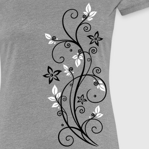 Filigree tendril with leaves and flowers. - Women's Premium T-Shirt