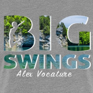 Big Swings Design By Alex Vocature - Women's Premium T-Shirt