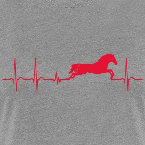 Hearbeat Horse lover owner pony trainer gift - Women's Premium T-Shirt