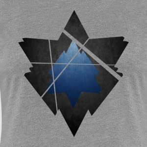 Simplistic Low Poly Symbol - Women's Premium T-Shirt