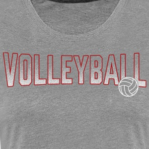 Volleyball Red Gradient Ball - Women's Premium T-Shirt