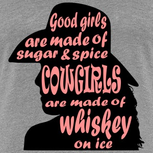 Cowgirls And Whiskey - Women's Premium T-Shirt