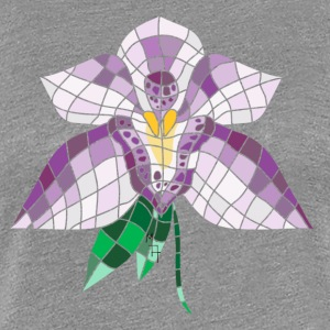 Stained Glass Orchid - Women's Premium T-Shirt