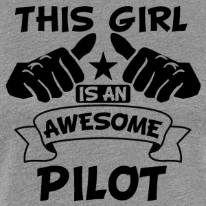 This Girl Is An Awesome Pilot - Women's Premium T-Shirt